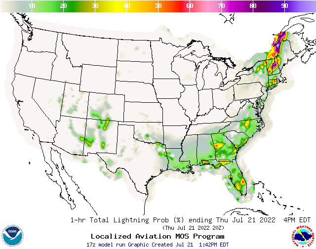 Lightning Strike Maps For USA - Lightning strike map