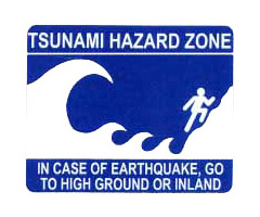 Logo: Tsunami Evacuation Sign