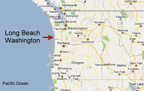 About Long Beach Weather Long Beach WA USA - Map of washington coast
