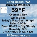 Current Weather Conditions in Long Beach, WA