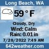 Weather for Long Beach, WA USA